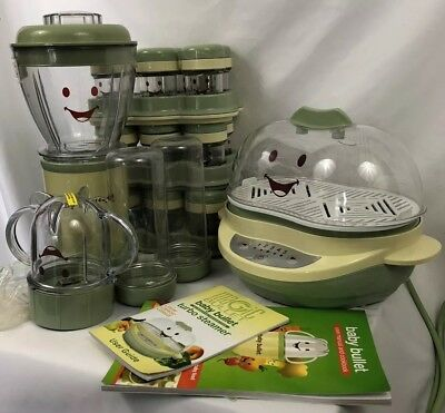 Lot of Magic Baby Bullet Set Baby Food Making Blender, Steamer, and Storage Cups