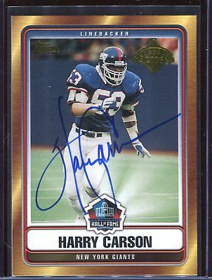 Harry Carson Giants Topps HOF Class of 2006 Signed Card Authentic Autograph Auto