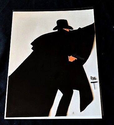ALEX TOTH  Signed Hand Painted Animation Cel THE SHADOW Concept Cel Art