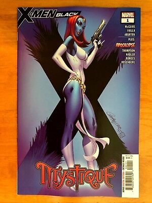 X-MEN BLACK MYSTIQUE #1 J. Scott Campbell Cover 1st Print  Marvel 2018 NM+
