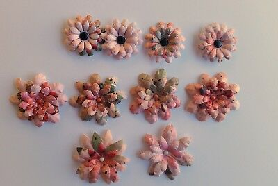 10 x Handmade 3D Die Cut Flowers #27- Perfect for Scrapbooking,Cards