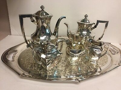8 Pc Vintage Sterling Silver Tea And Coffee Service