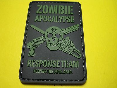 Tactical Morale Patch Zombie Apocalypse Response Team Pvc With Hook Back!!!