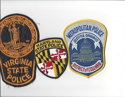 Maryland Police - State Police, Virginia State Police and DC Police