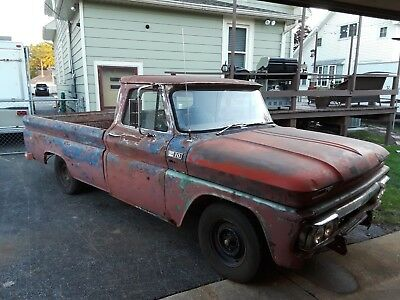 1965 Chevrolet C-10  1965 C-10 Chevy pickup barn find runs and drives
