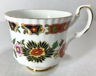 Vtg ROYAL ROSE Demitasse Cup Fine Bone China ENGLAND Floral Gold Gilt EUC RARE!