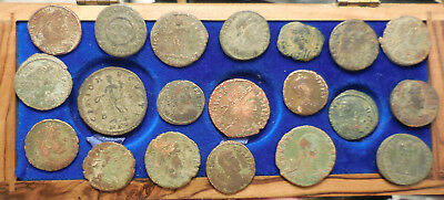 Lot of 20 F to VF Ancient Roman Coins! Largest 25 mm. Interesting Empress!