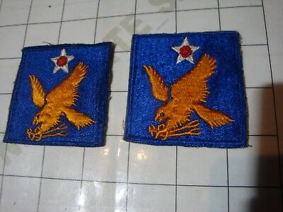 2x :: wwii WW2 uniform PATCH embroidered USA US 2 2nd Army Air AAF eagle flight