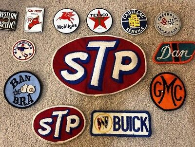 Lot Of 13 Vintage Patches And Magnets STP Texaco Buick Mobilgas
