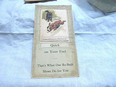 Antique Advertising Dolliver's Shoes S.F. CA. Dog Cat Rob Dickey Picture Card