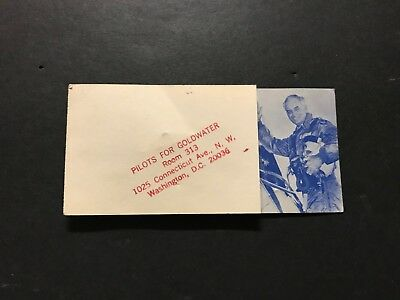 1964 Pilots for Goldwater Unused Card w/ Pin