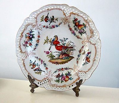 Vintage Hand Painted Exotic Birds Plate Marked