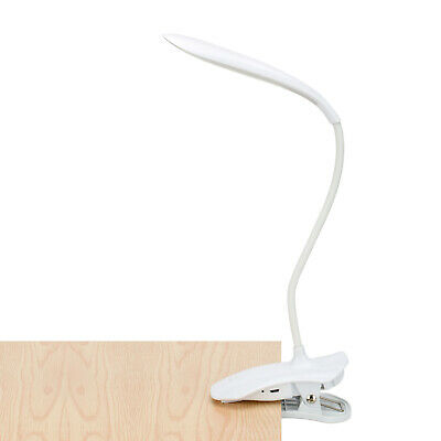 USB LED Desk Lamp - Clip Dimmable Touch Sensitive Gooseneck Desk Reading Light