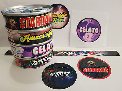 Press In Tins / Cali Tin Labels / Tuna Can Plastic Lid & Stickers