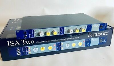 Focusrite ISA Two microphone preamp. Mint condition.