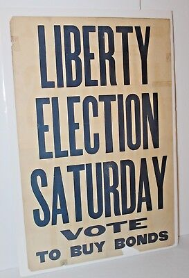 Liberty Election Saturday Vote To Buy Bonds Vintage Military Poster