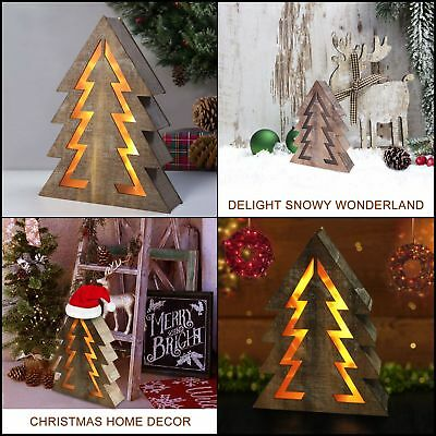 14 christmas tree light sign decorations 8hr timer led wooden xmas tree battery