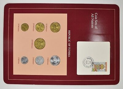 Coin Sets of All Nations - Republic of Tunisia - Stamp & Coin Set *4011