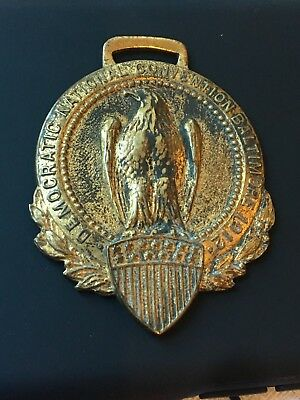 Vintage 1912 Democratic National Convention Watch Fob Baltimore Woodrow Wilson
