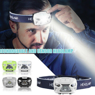 12000LM USB Rechargeable Sensor Head Torch Light LED Headlamp Headlight 2018 New