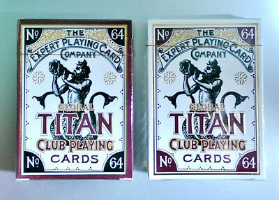 Set of 2 -GLOBAL TITAN ~CLASSIC GOLD and PEARL WHITE Playing Cards~EPCC