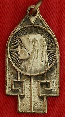 Vintage VIRGIN MARY Medal SACRED HEART OF JESUS Religious Catholic Medal