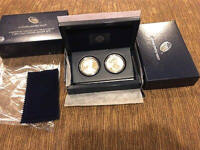 2012  American Eagle San Francisco Two Coin silver proof set EG1 Perfect Coins