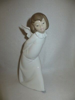 "Lladro ""curious Angel"" Porcelain Figurine - 7Th Mark - #4960 - Mint"