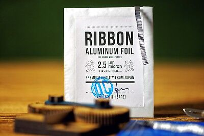 Aluminum Foil for Ribbon Microphones * 2.5μm micron * Premium Quality from Japan