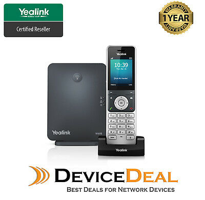 Yealink W60P Wireless DECT IP Phone including W60B Base Station & 1x W56H Handst
