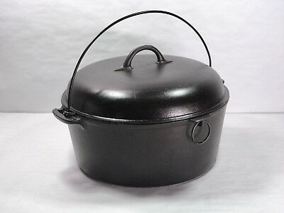 RARE Vintage PURITAN by FAVORITE Cast Iron Dutch Oven ( No. 10 ) *with LID!* 10E
