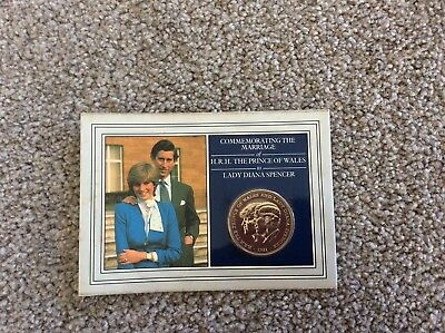 Commemorative The Marriage Of Prince Charles & Lady Diana Coin New !!!