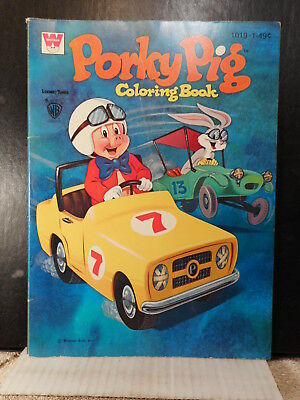 Porky Pig Coloring Book  (1970s) With Bugs Bunny  1017TB.
