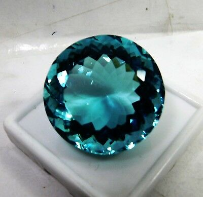 79.20 Cts. Natural Round Cut Transparent Ocean Blue Aquamarine Loose Gems.17002