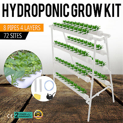 Hydroponic Grow Kit 72 Plant Sites herbs lettuce vegetables cabbage