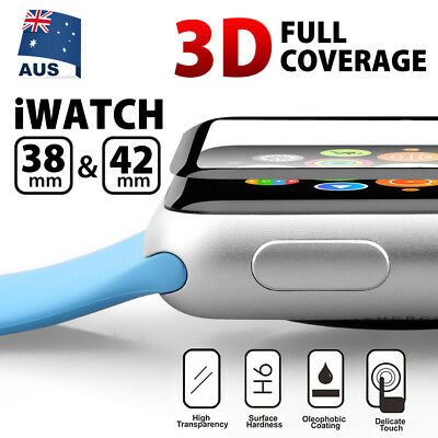 Apple Watch 3D Curved Tempered Glass FULL COVER Screen Protector 38mm & 42mm