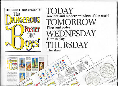 "The ""dangerous Book For Boys"" Times Poster, 7 Wonders"