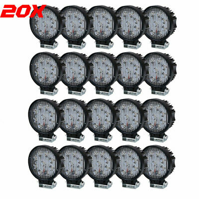 20X 12V 24V LED Work Light Flood SQUARE OffRoad ATV SUV Boat Jeep Truck Reverse