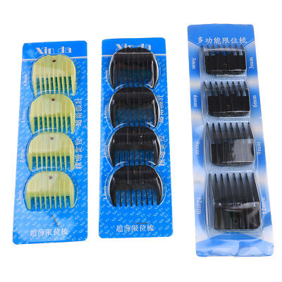 4Pcs Universal Hair Clipper Limit Comb Guide Attachment Size Barber Replacement.