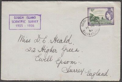 Tristan Da Cunha 1955 Gough Island Scientific Survey Cover To England