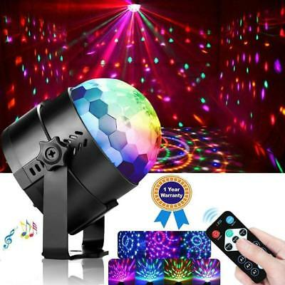Diskokugel Disco Lichteffekte RGB 3 W LED 7 COLOR Stage Partylicht Fernbedienung