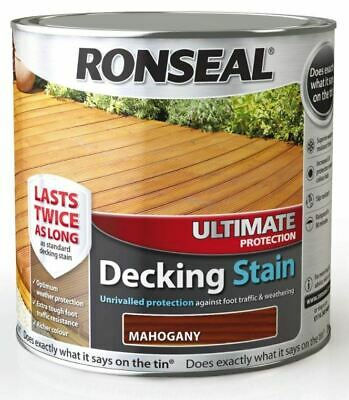 Ronseal Ultimate Protection Decking Stain 2.5ltr - Slip Resistant Waterproof