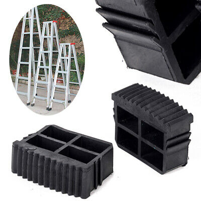 2Pcs Rubber Non Slip Replacement Step Ladder Feet Foot Mat Cushion Sole Black