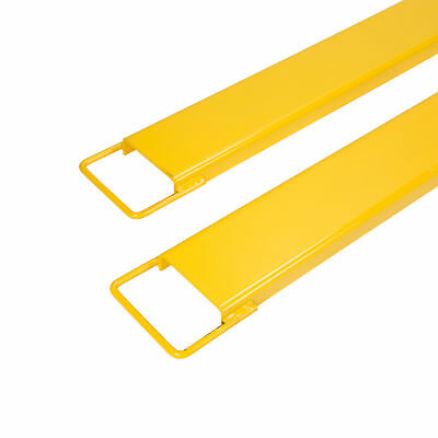 "2 Pack 84"" x 5.5"" Steel Pallet Fork Extensions for Forklifts Lift Truck."