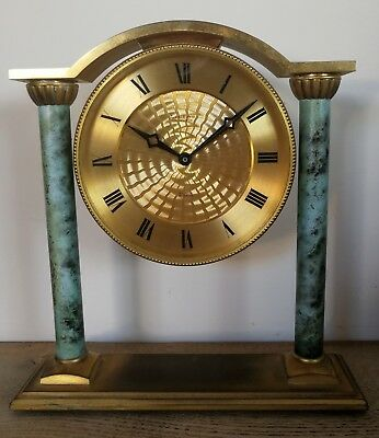 "Vintage Mantel Clock by Looping. 7 1/2"" Tall"
