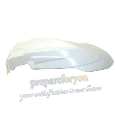 White Front Fender Mudguard For Dirt Motor Bike Motocross Supermoto KTM Honda