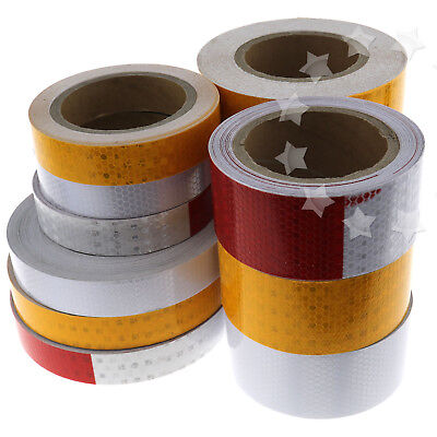 Strong Self-Adhesive Reflective Safety Warning Conspicuity Roll Tape 4 Sizes