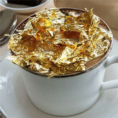 100pcs Gold Sliver Foil Decor Golden Leaf Cover Leaves Sheets Gilding DIY Art B