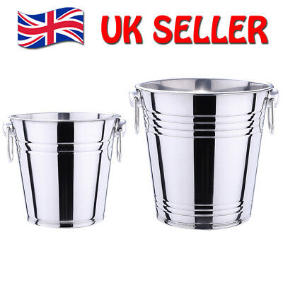 Champagne Wine Ice Bucket 5/3 Litre in High Polished Stainless Steel Wine Cooler