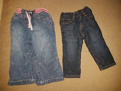 Gap And Next 12-18 Months Baby Girl Winter Jeans Bundle